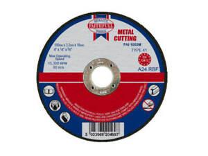 Faithfull Metal Cutting Abrasive Disc Wheel 100mm Diameter 3.2mm Thick 16mm Bore