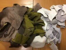 5 pound Scrap Leather Pieces Upholstery Cow Hide, Mixed Colors and Weights (19)