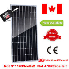 100% 100W Watt 12V Monocrystalline Solar Panel Off Grid 12V Charger Home RV Boat