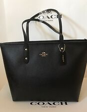 Coach - City Zip Tote in Crossgrain Leather (Black) [F58846]