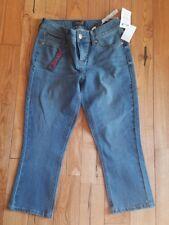 NWT Women's SEVEN 7 Venus Blue Skinny Capri Pants Size 12 $59