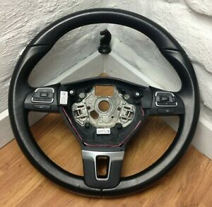 Genuine VW black leather steering wheel for T5.1 Transporter, with switches.  B3