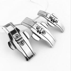 Butterfly Buckle Stainless Steel Double Push Button Deployant Watch Band Clasp