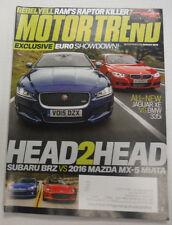 Motor Trend Magazine Jaguar XE VS BMW 335i August 2015 081515R