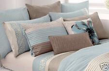 "Dkny Color Block Blue Aire European Pillow Sham Tucked Pleats 26"" x 26"" Nip"