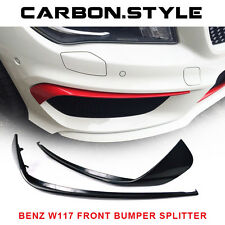 2016 Unpainted Front Bumper Lip Splitter For Mercedes Benz W117 CLA250 4DR