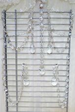 Sweet Home 5 Pieces Clear Faux Crystal Beads Chandelier Chain Garland Wedding
