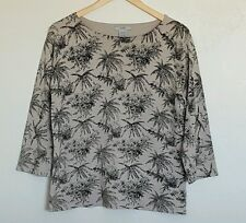 Women's Silk Top Size Large Bamboo Brand 3/4 Sleeve Career Casual