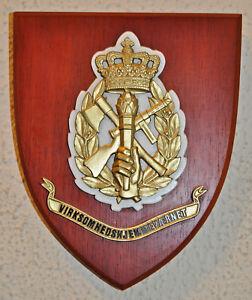 Virksomhedshjemmevaernet Danish Business Home Guard mess plaque crest shield VHV