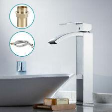 Chrome Waterfall Basin Tall Tap Mixer Brass Sink Bathroom Cascade Spout (41)