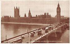 BR59737 double decker bus car london houses of parliament westminster bridge uk