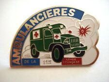 PINS RARE JEEP AMBULANCE MILITAIRE BM 4X4 CROIX ROUGE ARMEE VINTAGE PIN'S wxc4