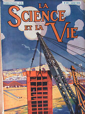 SCIENCE ET VIE N°127 (janv 1928) Bassin du radoub - Construction automobile