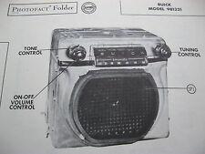 1953 BUICK SONOMATIC 981321 RADIO PHOTOFACT