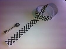 X2 CHEQUERED STICKER VINYL CHECKS CHEKERED DECAL SCOOTER 550 x 25mm