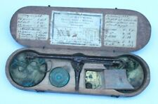 Antique late 1700s/ early 1800s French balance scales for coins in case.