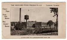 #610 on Harvard Food Products Chemung IL 1924 - Peas, Pork & Beans, Kidney Beans