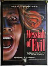 MESSIAH OF EVIL FF ORIG VIDEO GEMS VIDEO POSTER CULT HORROR (1985)