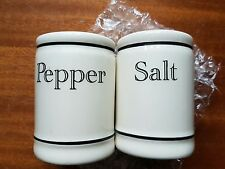 salt and pepper set cream script shakers