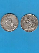 Grande Bretagne Victoria ( 1837-1901) One Silver Crown 1889