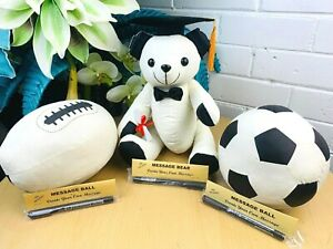 Congratulation Graduation Bear Soccer Footy WithPen Graduation Signature Message
