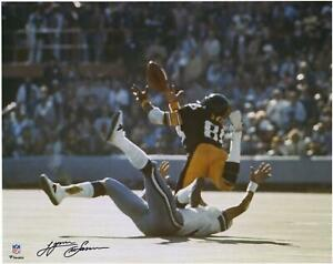 """Lynn Swann Pittsburgh Steelers Signed 16"""" x 20"""" Super Bowl X Diving Catch Photo"""