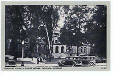 Vintage Goshen, IN Postcard - Elkhart County Court House - Automobile - Unposted