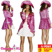 Ladies Pirate Caribbean Costume Find The Treasure Teen Fancy Dress Pink Angelica