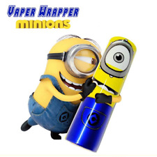 2x Minions 18650 Battery Wraps Shrink Sleeve   Vape Wrapper   UK STOCK   NEW