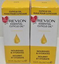 2 Revlon Cuticle Oil Nourishes & Hydrates # 225 0.5 Fl. OZ. Skin & Nail Oil