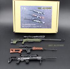 1/6 BattleField US ARMY Sniper Battle TAC-50 MK14 RUSSIAN SVD Modern Warfare 3PC