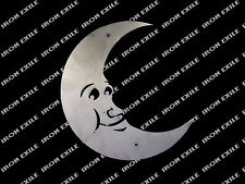 Outhouse Moon Face Metal Sign Wall Art Bathroom Decor Cute USA Made Kid's Room