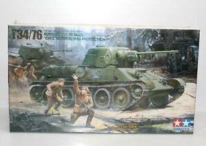 Tamiya T34/76 Russian Tank Chtz Version 1/35 Scale Plastic Model Kit 35149 New