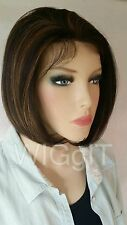 ELLIE | BROWN / HIGHLIGHTS | SHORT SYNTHETIC LACE FRONT WIG | SLEEK FASHION IDOL