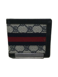 Gucci Old Sherry Line Wallet 2-Fold Pvc Gry Total Pattern