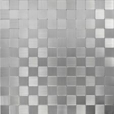 Selbstklebend Wandpanele Aluminium Silber Metall Glänzend 200-22M25 | 10 Panele