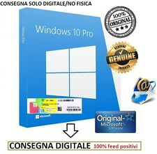 MICROSOFT WINDOWS 10 PRO PROFESSIONAL LICENZA STICKER ORIGINALE COA KEY32/64BIT