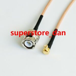 15/30/50/100cm BNC male to MCX male plug Right Angle crimp RG316 cable pigtail