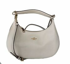 NWT Coach Pebble Leather Harley East West Hobo in Chalk