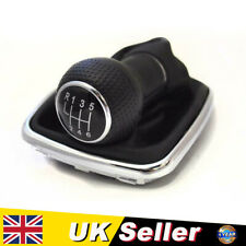 GEAR SHIFT STICK GAITER KNOB 6 SPEED BLACK 12mm For VW GOLF MK4 97-06 BORA 98-05