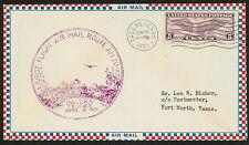 1931 FIRST FLIGHT AIR MAIL ROUTE AM 20 - DALLAS, TX - C12 FRANKING  (ESP#1450)