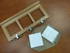 Wooden Coat Rack with Sublimation tiles (4 Blank tiles included)