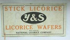 Y&S LICORICE WAFERS POINT OF SALE SIGN, EARLY CANDY BRAND
