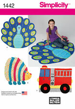 Simplicity Sewing Pattern 1442 Rag Quilts Fire Truck Peacock Hedgehog Quilting
