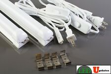 2x 4ft garage basement LED integrated frost tube light 20w with 6ft Power cable
