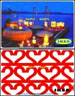 2x IKEA ROMANTIC CANDLELIGHT SUPPER LOVE IN THE AIR COLLECTIBLE GIFT CARD LOT For Sale