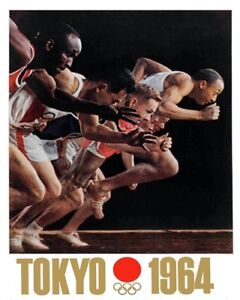1964 Tokyo Summer Olympics  Reprint Poster Color 8 X 10 Photo Picture