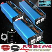 6000W 8000W Reiner Sinus Wechselrichter DC 12V/24V bis 230V Spannungswandler LCD