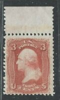 [MC4]    US #94 ~ 1890 3c Red Perf 12 F-Grill. ~ Clean PSAG Cert. ~ Mint-VLH