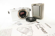 Olympus PEN E-PM1 12.3MP Digital Camera White (Body Only) [Excellent] w/ Chager